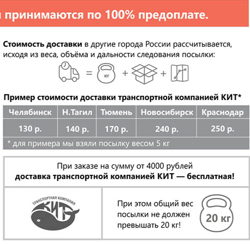 примерная стоимость доставки по городам России