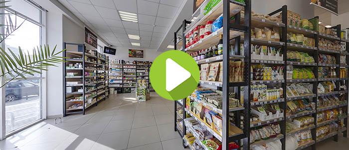 Виртуальная экскурсия по магазину Biofam