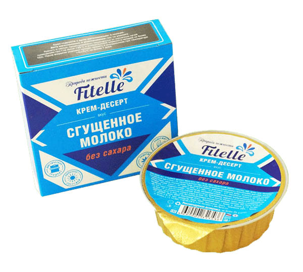 Крем-десерт Сгущенное молоко Fitelle, 100 г