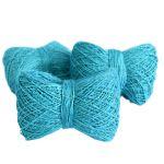 Мягкая пряжа из конопли голубая лазурь фото