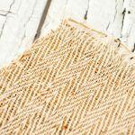 Домоткань из конопли плетением «зигзаг» неокрашенная фото