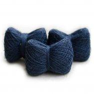 Мягкая пряжа из конопли цвет синий фото