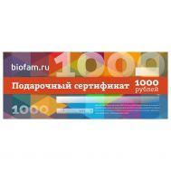 Подарочный сертификат от Биофам фото