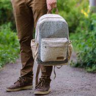 Рюкзак из конопли Тамель синий зигзаг фото 1