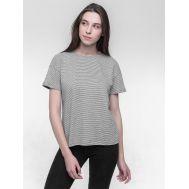 Базовая эко футболка из конопли и хлопка в полоску  фото1