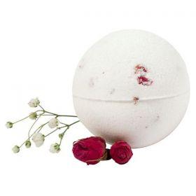 Бурлящий шарик для ванн Роза фото