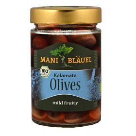 Оливки сорта Каламата с косточкой в рассоле фото