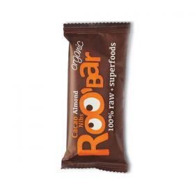 Батончик какао бобы кусочками и миндаль Roobar фото
