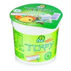 Тофу по-русски с томатом и перцем фото