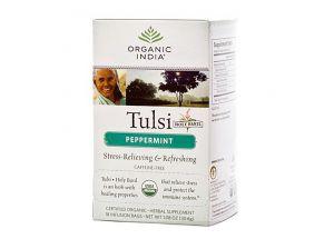 Чай базиликовый с перечной мятой Tulsi Peppermint Organic фото