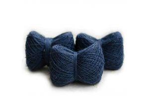 Мягкая пряжа из конопли цвет синий