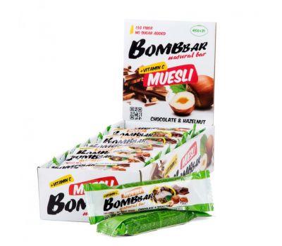Батончик-мюсли Шоколад-фундук Bombbar фото