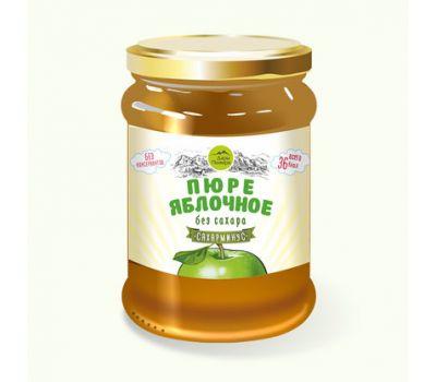 Пюре яблочное без сахара Дары Памира фото