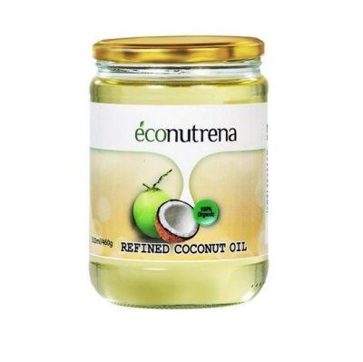 Кокосовое масло органическое рафинированное Econutrena фото