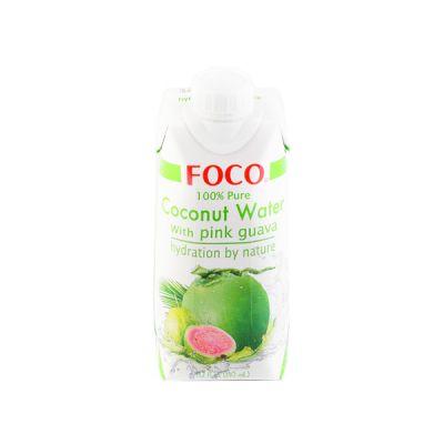 Кокосовая вода с мякотью розовой гуавы Foco фото